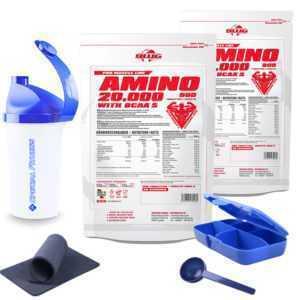 12,47 €/kg ++ BWG Amino 20.000 ( 2 Beutel á 900 Tabletten Aminosäure ) + BONUS