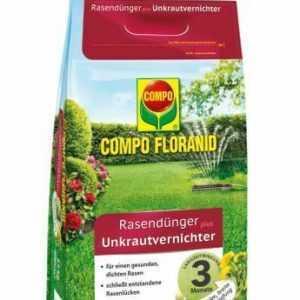 (4,57€/1kg) COMPO FLORANID Rasendünger plus Unkrautvernichter 12kg für 400m² Lan