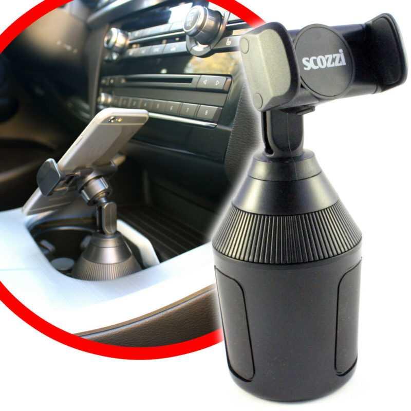 scozzi® 360° KFZ Handy Halterung für Getränkehalter Dosenhalter Halter Auto Navi