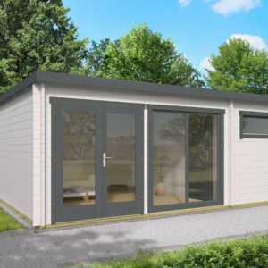 40 mm Gartenhaus 600x400 cm Blockhütte Holzhaus Hütte Schuppen Holz Gerätehaus