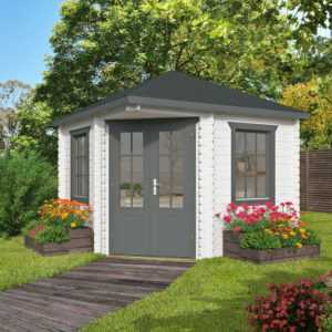 28 mm 5-Eck Gartenhaus 300x300cm Holzhaus Gerätehaus Pavillon Pavillion Holz