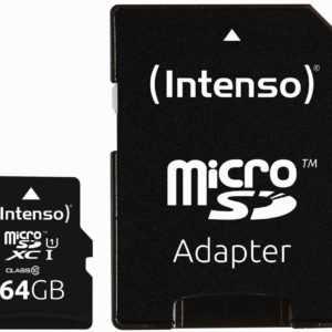 Intenso Micro SDXC Karte 64GB Speicherkarte UHS-I Premium 45MB/s Class 10 bulk