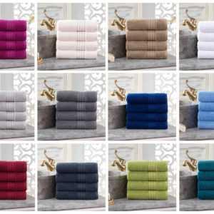 2/4er Set Luxus Frottee Handtücher Gästetücher Duschtücher Baumwolle 500 g/m²