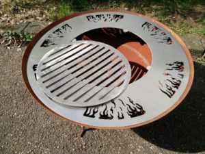Rost Feuerschale 60cm Edelstahl 1.7mm Grill BBQ Garten Feuerschale Rost 1 set