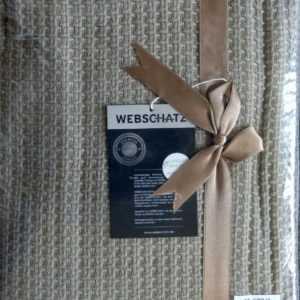 Webschatz-Tagesdecke-Couch Überwurf-100% Baumwolle 3 Größen Braun Gestrickt