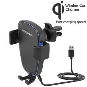 Qi Wireless Lüftung Autohalterung Handy KFZ Halter Smartphone iPhone Samsung S9