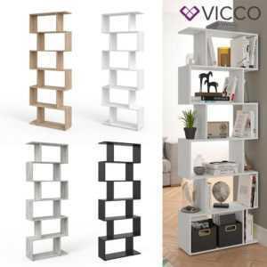 VICCO Raumteiler LEVIO 6 Fächer Bücherregal Standregal Aktenregal Büroregal