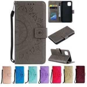 Apple iPhone Handy Hülle Schutz Tasche Wallet Case Etui Flip Cover Mandala