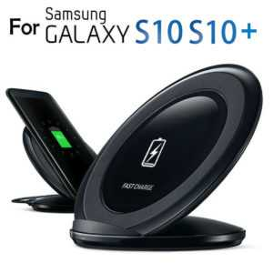 Induktive Ladegerät Wireless Fast Charger Ladestation Samsung S10 S10e S9 Plus