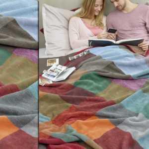 Biederlack Wohndecke 150x200 cm aus 100% Baumwolle Sofadecke