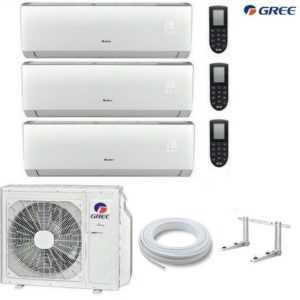 GREE Lomo MultiSplit 3 Räum 3 x 2,1 kW Klimaanlage Inverter Wärmepumpe R32; EEK A++