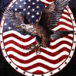 USA Kuscheldecke Tagesdecke Wohndecke Decke Adler - Wappen