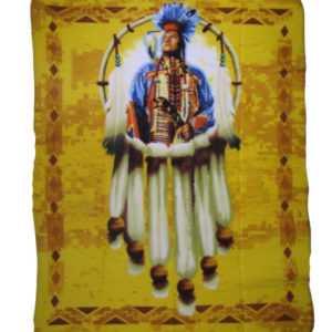 Indianer Indisch Stolz Traumfänger Brautvater 50x60 Polar Fleece