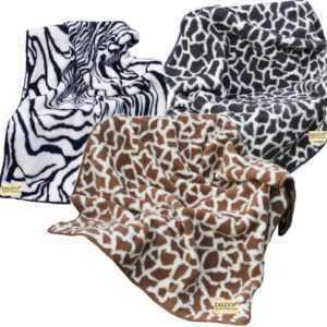 Wolldecke 100% Schurwolle Giraffe Kuscheldecke versch