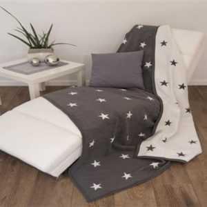 Wohndecke Sofadecke Decke Sterne 150 x 200 cm Kuscheldecke