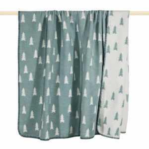 PAD Decke Tanne aqua Kuscheldecke Weihnachten Wohndecke 200x150 cm