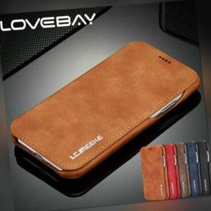 Luxus Flip Stand Leder Case Für iPhone X 8 7 6s+ Handy Hülle Tasche Cover Wallet
