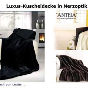 Kuscheldecke in Nerzoptik sehr warm hochwertig Decke Luxus