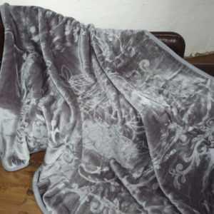 XXL Luxus Tagesdecke Kuscheldecke Wohndecke Decke Plaid grau