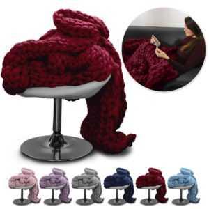 Urcover® Chunky Knit Blanket Kuscheldecke flauschige Tagesdecke