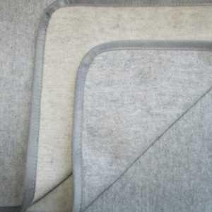 Kaschmir Plaid doppelseitig silber/caramel, Wolldecke, Tagesdecke,