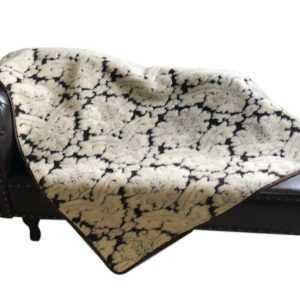 "Wolldecke ""Gracia"" Tagesdecke Überwurf Couchdecke Decke geprägt,"