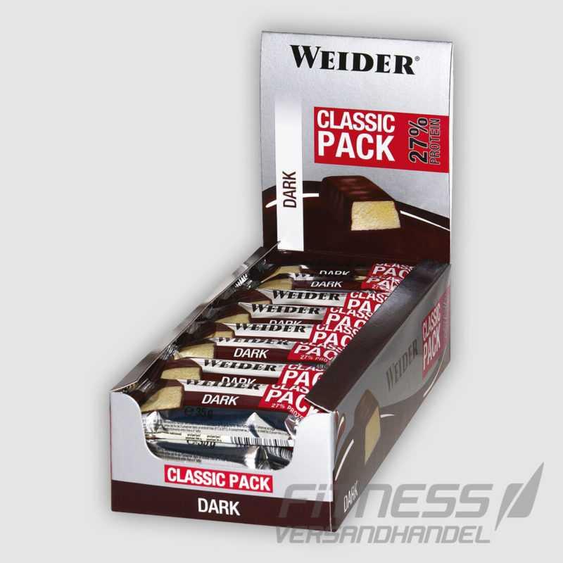 (24,00€/kg) Weider Fitness Bar Classic Pack Riegel 24x 35g Proteinriegel