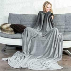 Kuscheldecke Tagesdecke Sofa Cashmere Touch Farbverlauf grau Ombre