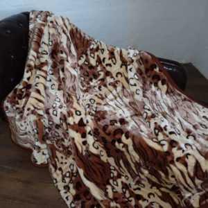 XXL Kuscheldecke Tagesdecke Wohndecke Plaid Decke Tiger - Design