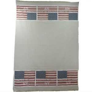 Plaid Vintage Stars & Stripes Tagesdecke Decke USA 130 x 180