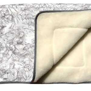 Wolldecke Tagesdecke Überwurf Sofadecke Decke Blumenmädchen 100%