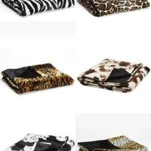 Kuscheldecke Decke Überwurf Plaid Animal Print fellähnlich