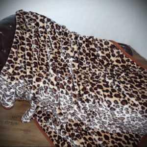 KUSCHELDECKE Tagesdecke Wohndecke Decke Plaid Leopard - Design