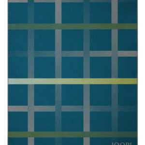 JOOP! Wohndecke Square Petrol-Graphit 150 cm x 200 cm