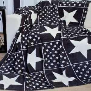 Kuscheldecke Patchwork 150x200 cm mit Sternen Wohndecke Sofadecke