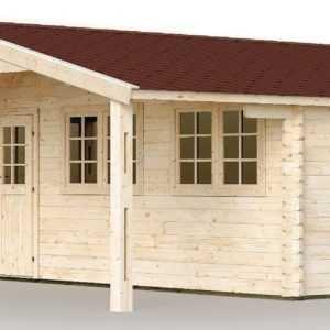 44 mm Gartenhaus 6x6 m INKLUSIVE Montage Aufbau Gerätehaus Blockhaus Holzhaus