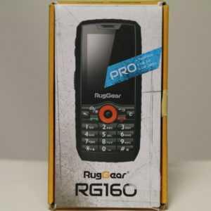 Ruggear RG160 - Schwarz - 3G GSM - Mobiltelefon