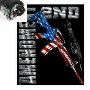 AR15 Second Amendment USA Flag Army Militär Blanket Decke
