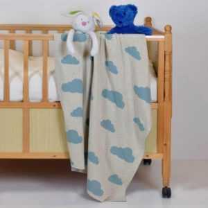 Wolken Decke Babydecke Kinderdecke Baby Kinder Kuscheldecke