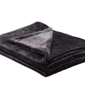 Soft Flauschdecke Schwarz 100% Polyester LAVIDA