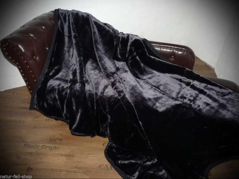Kuscheldecke Tagesdecke Wohndecke Decke Glanz-Design schwarz