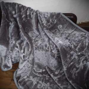 XXL LUXUS Tagesdecke Kuscheldecke Glanz-Design grau 200x240cm