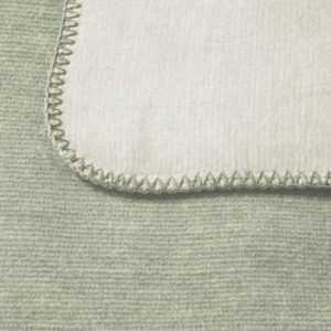 Bocasa Wohndecke Duo Cotton Melange, Farbe salbei / natur, Gr.