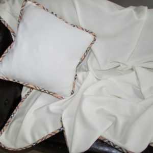 Wollplaid/Kissen, Geschenk Set, mit Kaschmir Anteil,140x200 cm