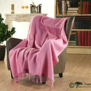 Englische Wolldecke mit eingewobener Struktur aus 100% Neuseeland
