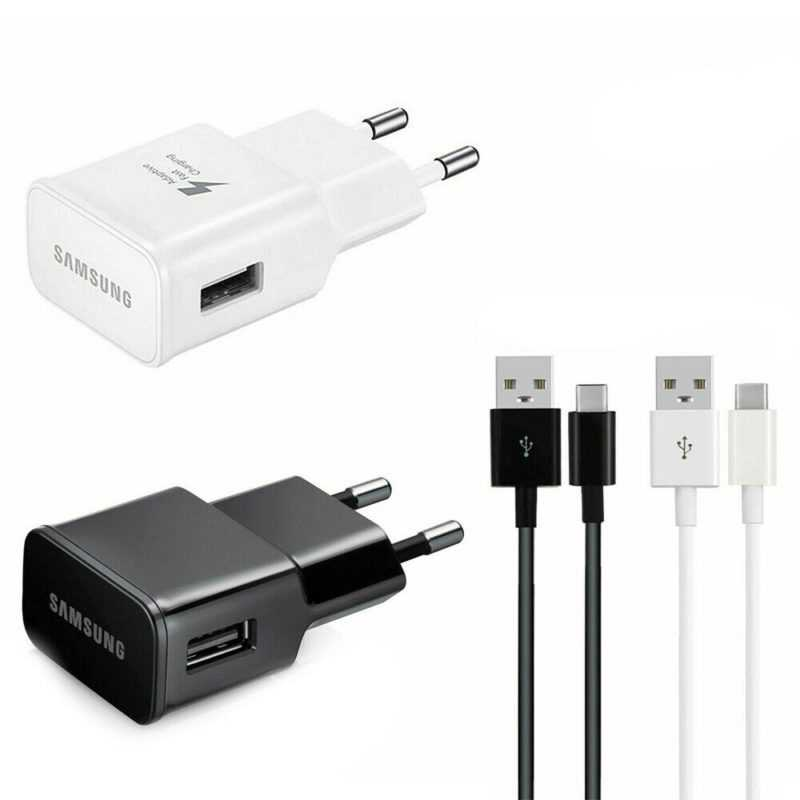Samsung Schnell Ladegerät Fast Charger USB Kabel Micro USB-C - S6 S7 S8 S9 S10