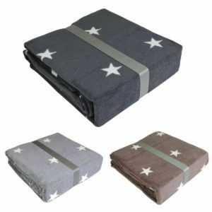 Schlafdecke Sterne 150x200cm grau, anthrazit oder taupe