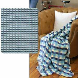 Biederlack Wohndecke in 160x200 cm Culture Kuscheldecke blau beige