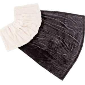 Kuscheldecke schwarz - creme Wohndecke 180x130 cm