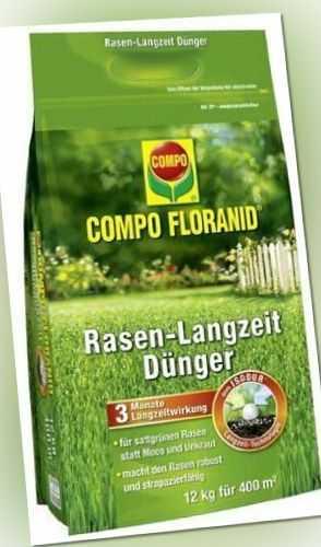 Compo FLORANID Rasen-Langzeitdünger 12,0 Kg Rasendünger Dünger Rasen Düngemittel